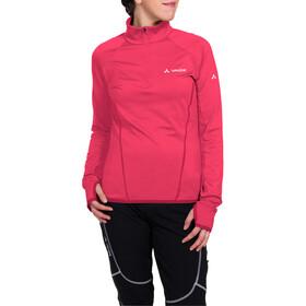 VAUDE Livigno Halfzip LS Shirt Women bright pink